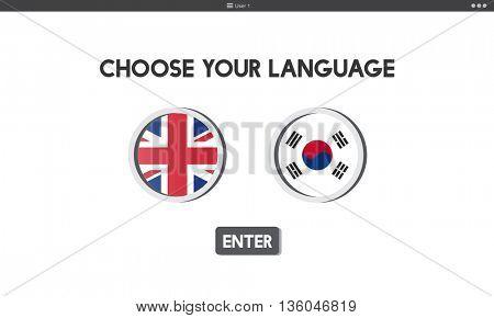 Korean English Language Communication Global Concept