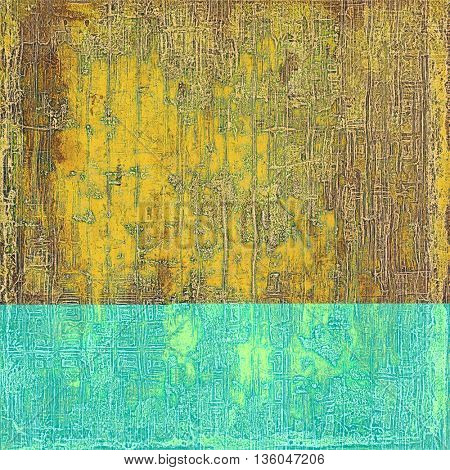 Retro vintage colored background with noise effect; grunge texture with different color patterns: yellow (beige); brown; gray; green