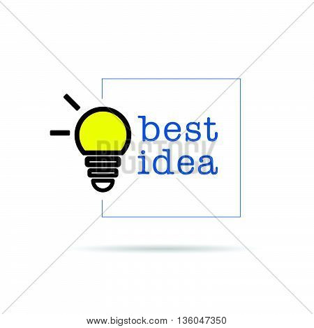 Bulb Icon With Best Idea Design Illustration