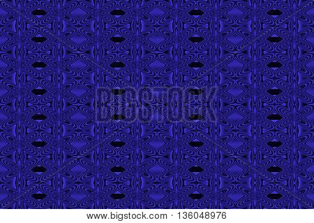 Illustration of repetitive dark blue and black flowers