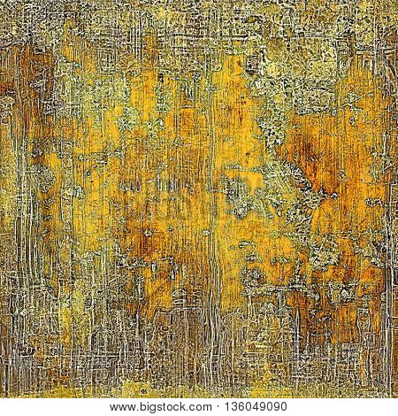 Vintage aged texture, old scratched background. With different color patterns: yellow (beige); brown; gray; green; red (orange)