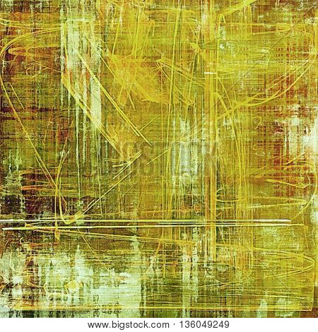 Old grunge vintage background or shabby texture with different color patterns: yellow (beige); brown; green; red (orange); white