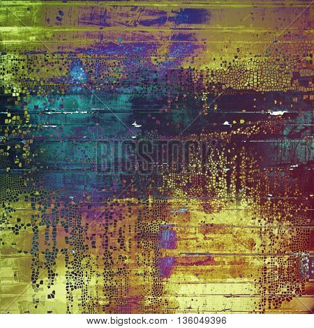 Art grungy texture, aged background with retro feeling. With different color patterns: yellow (beige); brown; green; blue; purple (violet); pink