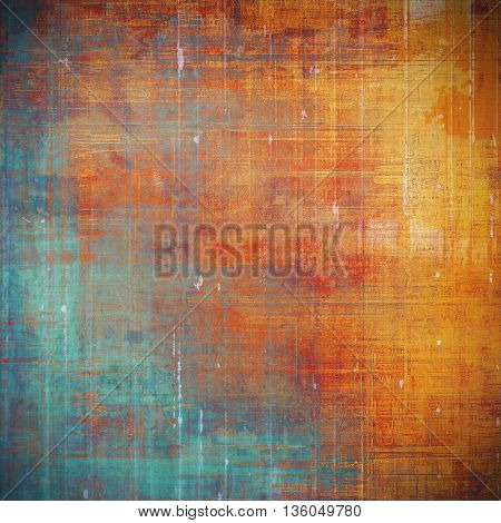 Retro vintage colored background with noise effect; grunge texture with different color patterns: yellow (beige); brown; blue; red (orange); cyan; pink