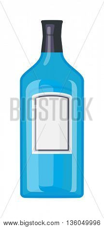 Tequila bottle vector illustration.