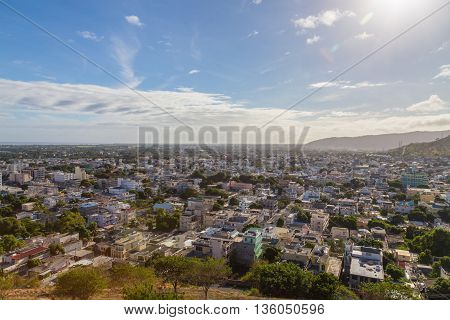 Port Louis Panoramic Capital Of Mauritius By Day