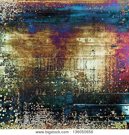 Veined grunge background or scratched texture with vintage feeling and different color patterns: yellow (beige); brown; blue; red (orange); purple (violet); black