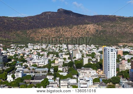 Port Louis Skyline Capital Of Mauritius By Day