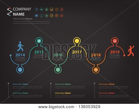 Milestone and timeline walk through concept infographic (Vector eps10)