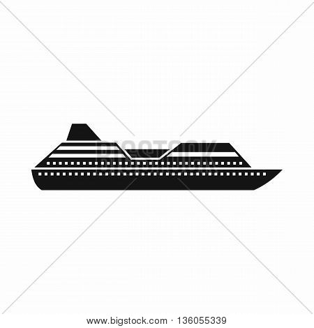 Cruise liner icon in simple style isolated on white background