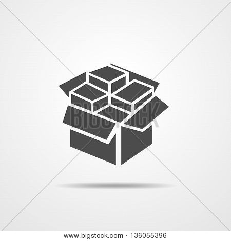 Open box icon - vector illustration. Box vector icon isolated.