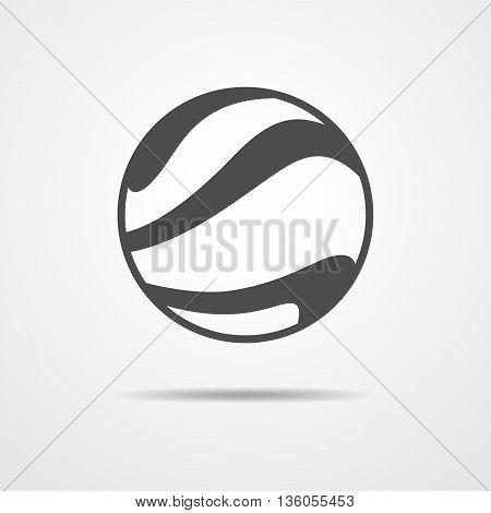 Beach ball icon - vector illustration. Simple flat ball sign isolated.