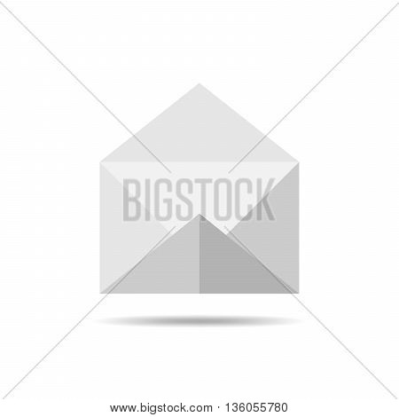 Simple paper envelope - vector illustration. Paper envelope isolated on white background.