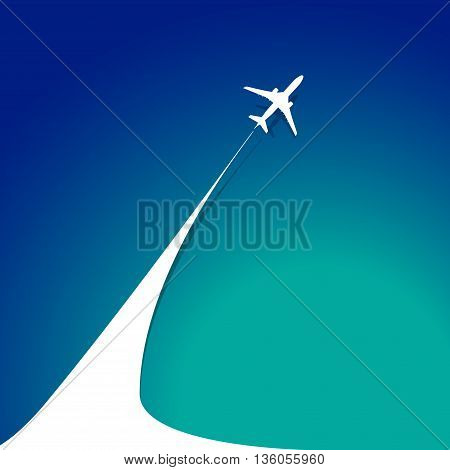 Airplane With Airplane Stream Jet