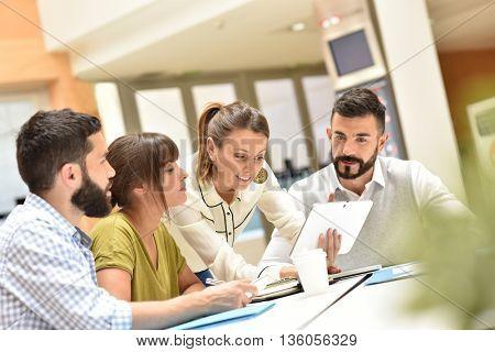 Business team working in meeting room