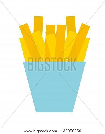 french fries isolated icon design, vector illustration  graphic