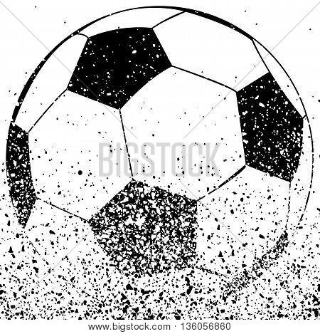 Black and white soccer ball, vector art illustration.