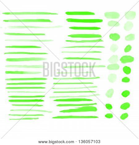 Water color brushes 59 blob shapes set on paper art use for custom brush in Photo editor or use in commercial color collection vector illustrations