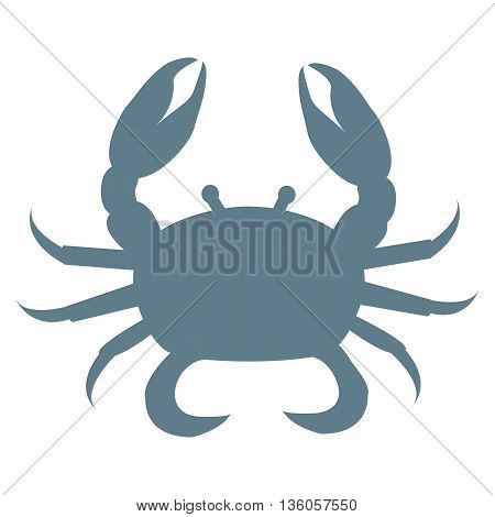 Stylized icon of a colored crab on a white background