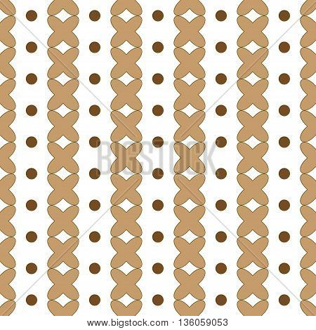 Polka dot and cross geometric seamless pattern. Fashion graphic background design. Modern abstract texture. Colorful template for prints textiles wrapping wallpaper website etc. VECTOR illustration