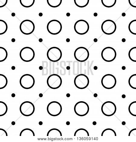 Polka dot geometric seamless pattern. Fashion graphic background design. Modern stylish abstract texture.Monochrome template for prints textiles wrapping wallpaper website etc. VECTOR illustration