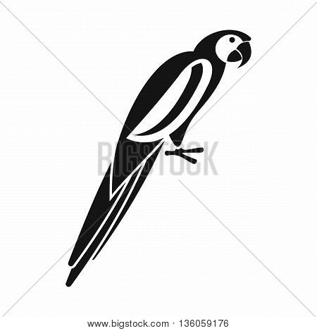 Parrot icon in simple style isolated on white background