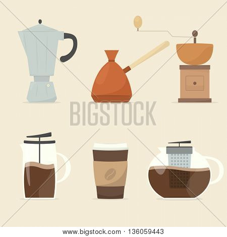 coffee maker icon set