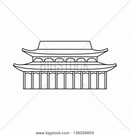 Buddha Toothe Relic Temple in Singapore icon in outline style isolated on white background