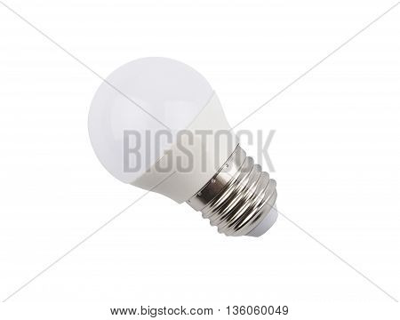LED lamp on a white background, close up
