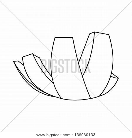 ArtScience Museum in Singapore icon in outline style isolated on white background