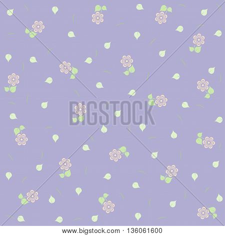Lilac floral background. Elegant cute floral pattern