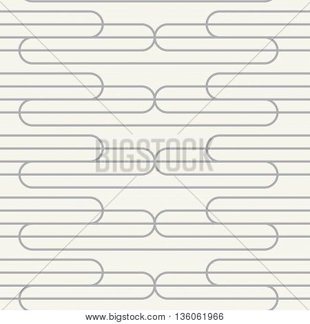 Vector seamless pattern. Modern stylish texture. Repeating geometric background with waves.