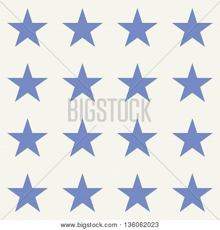 Vector seamless pattern. Modern stylish texture. Repeating geometric background with stars.