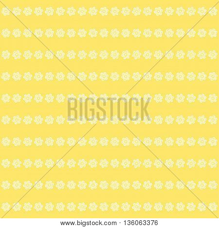 Cute vintage flower pattern on yellow background