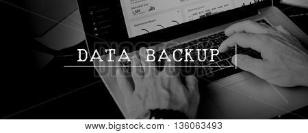 Data Backup Information Storage Server Technology Concept