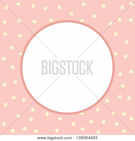 Vintage vector card. Pink flowers background. Vector