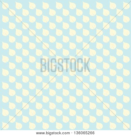 Blue floral pattern vintage background. Vector image