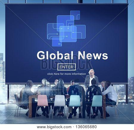 Global News Online Technology Update Concept