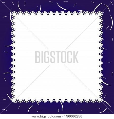 Template frame design for greeting card or invitation