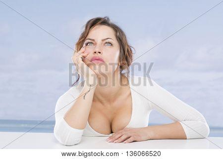 Beauty woman on the seaside