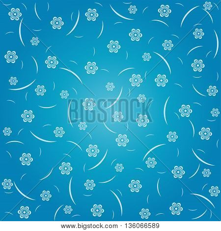 Blue Floral Pattern Background For greeting and Invitation cards