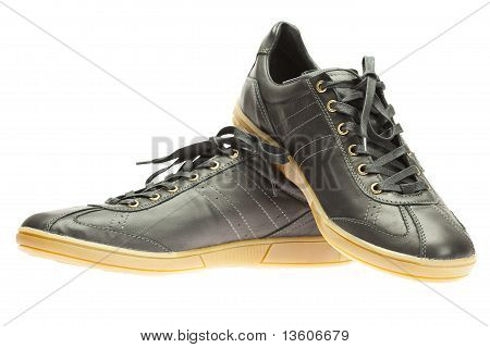New Black Sneakers Isolated On White
