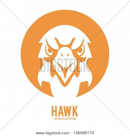 Animal  concept represented by Haluk icon over circle. Isolated and flat illustration