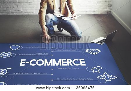 E-commerce Commercial Marketing Online Concept