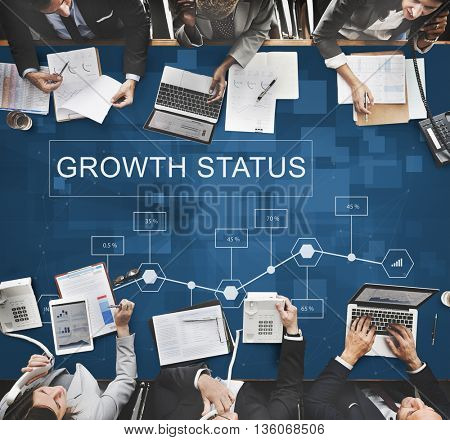 Business Growth Achievement Analytics Strategy Concept