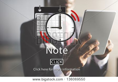 Note Appointment List Organizer Plan Reminder Concept