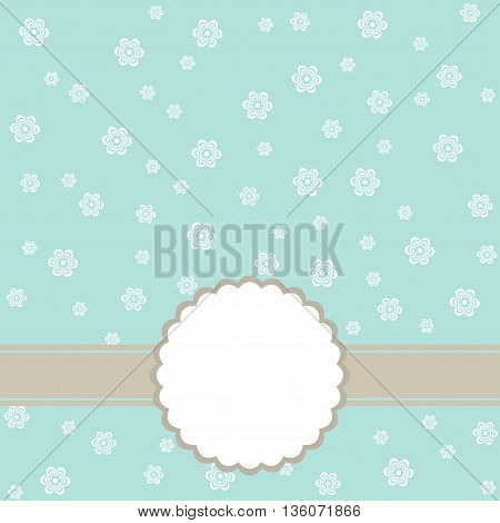Flower greeting card. Wedding invitation. Vector background