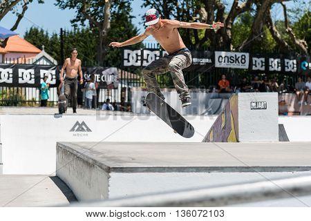 Jorge Simoes During The Dc Skate Challenge