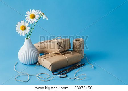 Flower With Paper Present Box