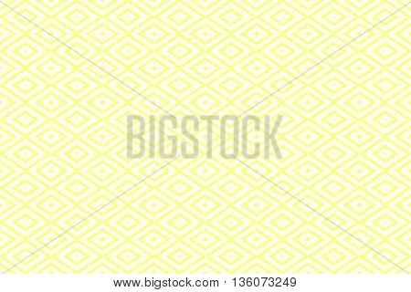 Illustration of repetitive yellow and white rhombuses